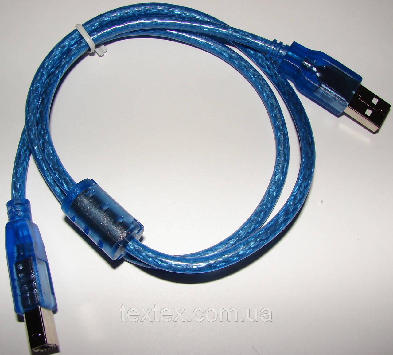 Кабель USB 2.0 A/B экранированный c фильтрами длина 5 м