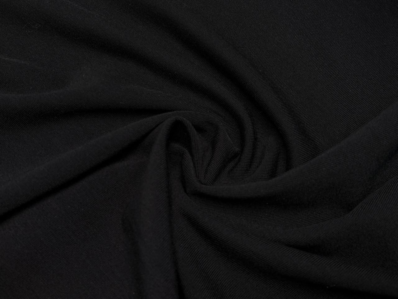 Вискозный трикотаж с начесом, черный