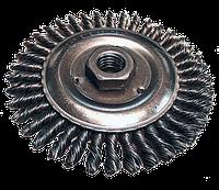 Щетка дисковая для УШМ,жесткая проволока 115мм, посадка М14//Makita