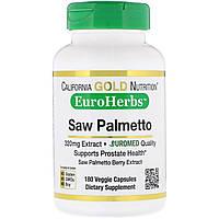 California Gold Nutrition, Экстракт сереноя, EuroHerbs, европейское качество, 320 мг, 180 вегетарианских капсул