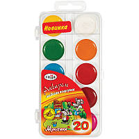 Краски акварельные Гамма Мультики 20 цветов без кисти 211046_20