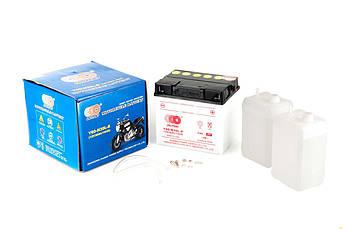 Мото аккумулятор АКБ (Аккумулятор на скутер, мотоцикл, мопед) 12В (V) 30А заливной (187x130x170, белый,