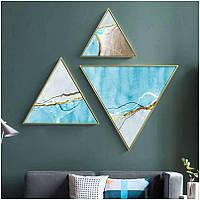 Модульная треугольная картина 3 в 1 Морской Бриз - 218593