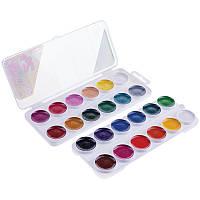 Краски акварельные Гамма Пчелка 24 цвета без кисти 212035