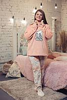 Женская пижама махра+флис,  XL, BellaSecret
