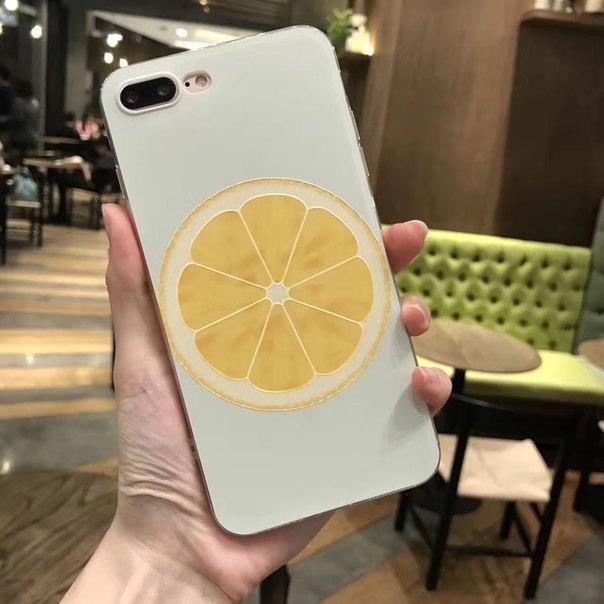 Чехол для iPhone 6/6s, 6+, 7/7S, 7+ прозрачный с фруктами
