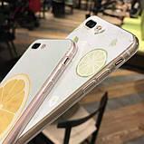 Чехол для iPhone 6/6s, 6+, 7/7S, 7+ прозрачный с фруктами, фото 2