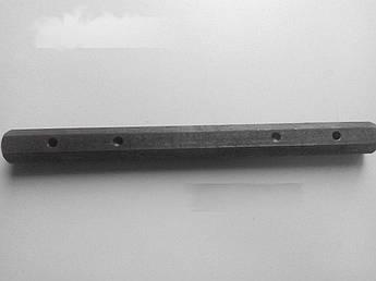 Ось редуктора шестигранная на Мотоблок 175N/180N (7/9 Hp Лошадиных Сил) (L-400мм, D-32мм) ST