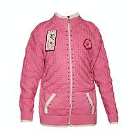 202-1. Вязаная кофта на змейке для девочек (6-8 лет) оптом в Одессе.