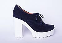 Туфли из натуральной синей кожи №310-1, фото 1