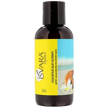 Isvara Organics, Средство для защиты от солнца с кокосом, 5,5 жидких унций (162 мл)