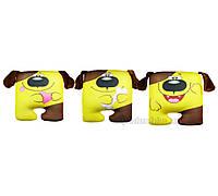 Антистрессовая игрушка-подушка Собака квадрат  собака с сердцем