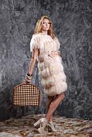 Жилет из меха испанской ламы нежно бежевого цвета, фото 1
