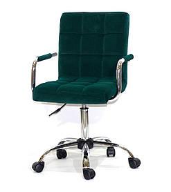Кресло мастера Augusto Arm CH Office Бархат, зеленое