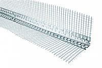 Уголок перфорированный с сеткой (алюминиевый) 2,5м
