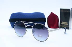 Женские солнцезащитные круглые очки Venturi 850 серебристые