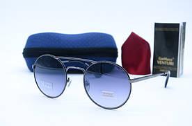 Женские солнцезащитные круглые очки Venturi 850 серые