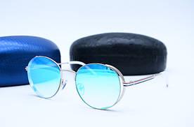 Женские солнцезащитные овальные очки Venturi 854 голубые