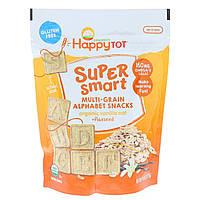 Happy Family Organics, Happy Tot, супер-полезные многозерновые буквы, органическая ваниль, овес, льняное семя, 4,4 унц. 125 г, официальный сайт