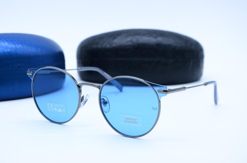 Женские солнцезащитные овальные очки Venturi 865 голубые