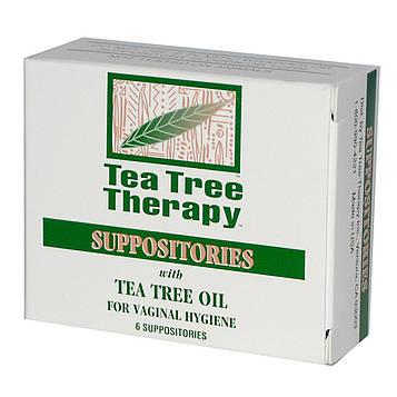 Tea Tree Therapy, Свечи, с маслом чайного дерева, для гигиены влагалища 6суппозиториев