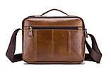 Сумка чоловіча стильна шкіряна. Барсетка портфель з натуральної шкіри (коричнева), фото 4