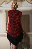 Жилет из испанской ламы цвета бордо, фото 3
