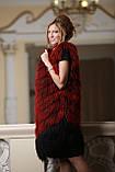 Жилет из испанской ламы цвета бордо, фото 4