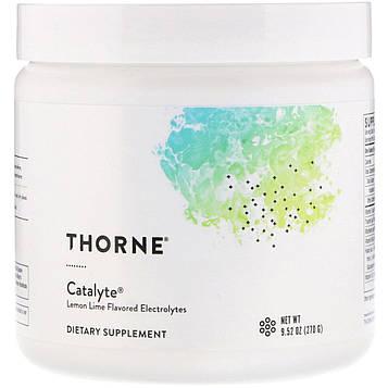 Thorne Research, Catalyte, электролиты со вкусом лимона, 9,52 унц. (270 г)