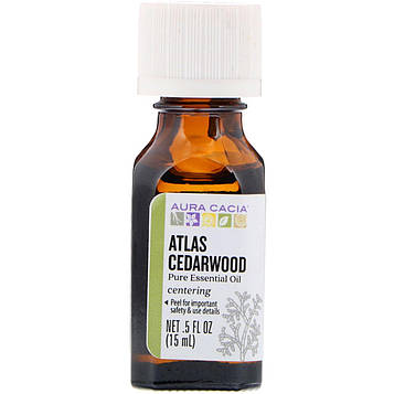 Aura Cacia, Pure Essential Oil, Atlas Cedarwood, .5 fl oz (15 ml)