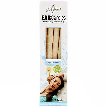 Wally's Natural, Ear Candles, Unscented, 12 Candles