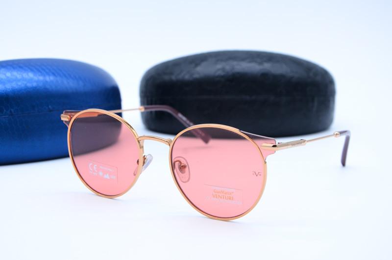 Женские солнцезащитные овальные очки Venturi 865 роз