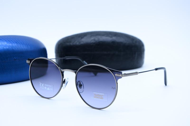 Женские солнцезащитные овальные очки Venturi 865 серые