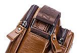 Сумка чоловіча стильна шкіряна. Барсетка портфель з натуральної шкіри (чорна), фото 8