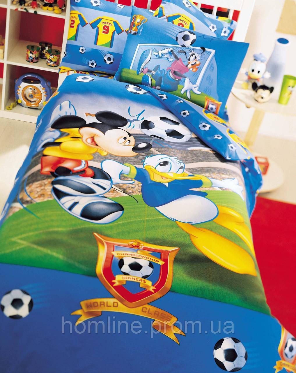Постельное белье Tac Disney Mickey Champions hip 160*220 подростковое
