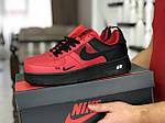 Чоловічі кросівки Nike Air Force (червоно-чорні), фото 3