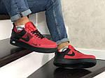 Чоловічі кросівки Nike Air Force (червоно-чорні), фото 2