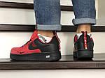 Чоловічі кросівки Nike Air Force (червоно-чорні), фото 4