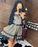 Платье из сетки с блестками и открытыми плечами 4403719, фото 3