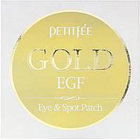 Petitfee, Gold & EGF, патчи для глаз/прыщей, 60 патчей на глаза/30 патчей на прыщи