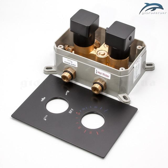 Термостатический смеситель для душевой системы скрытого монтажа BSKT-03 с переключателем на 3 положения.