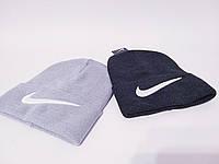 Трикотажная женская шапка лопатка с подворотом и нашивкой 1207230, фото 1