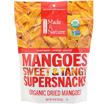 Made in Nature, Органические Mangoes Сладкий & Tangy Supersnack, 8 унций (227 г)