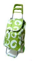 Тачка сумка с колесиками кравчучка 96см MH-1900 зеленая