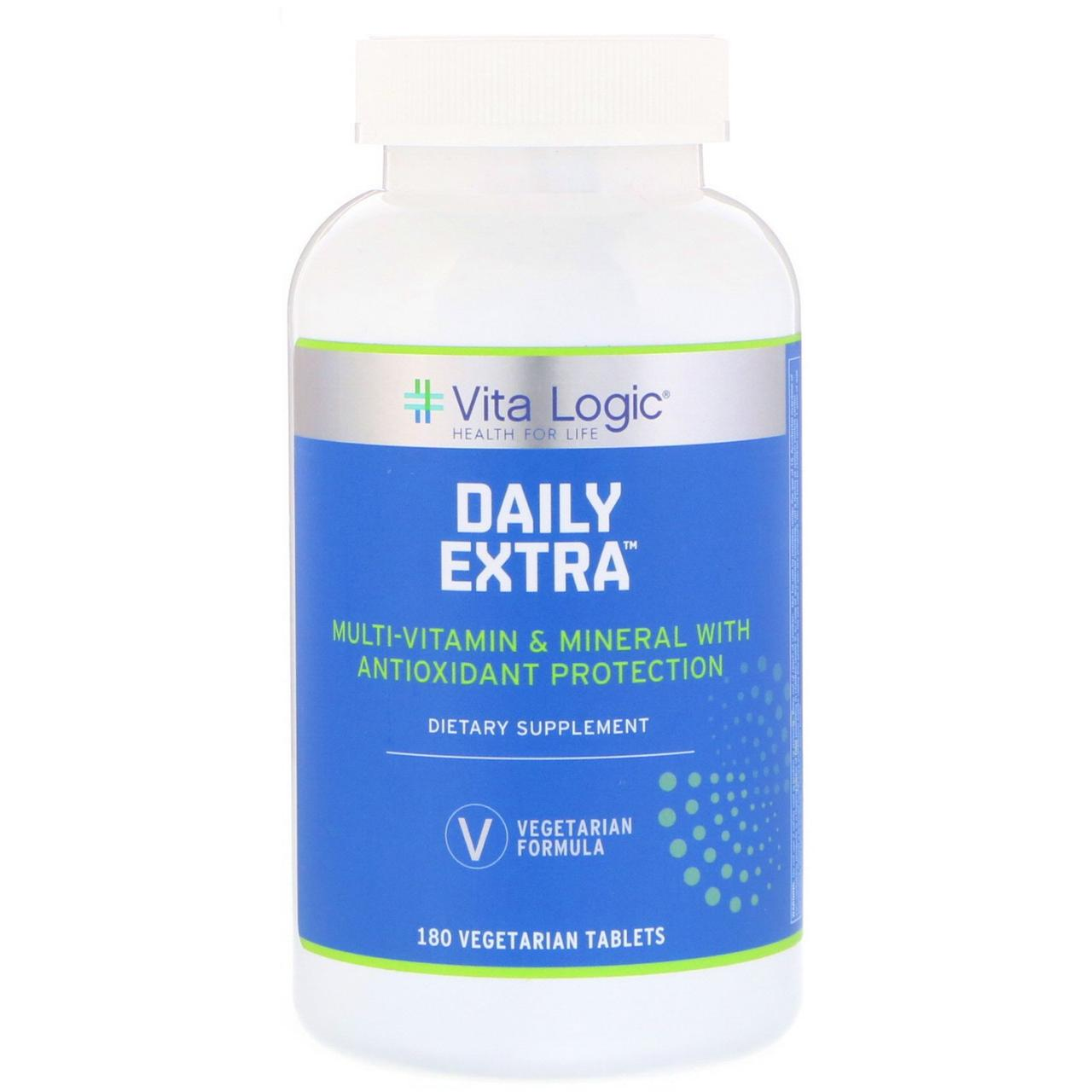 Vita Logic, Ежедневный экстракт, 180 вегетарианских таблеток