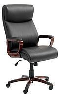 Кресло руководителя офисное, Искусственная кожа   Черный