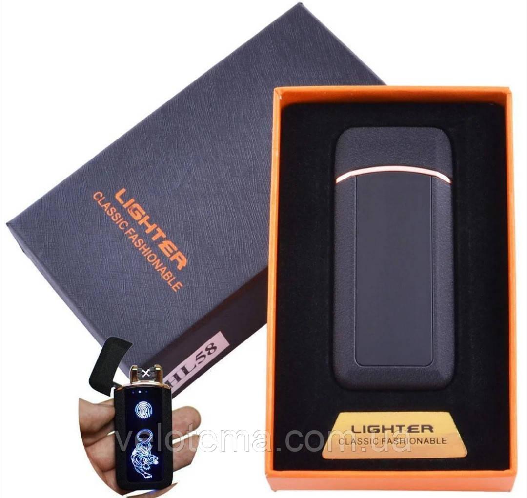 Электроимпульсная зажигалка две дуги в подарочной упаковке