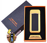 Электроимпульсная зажигалка две дуги в подарочной упаковке, фото 2