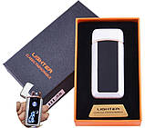 Электроимпульсная зажигалка две дуги в подарочной упаковке, фото 3