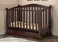 Детская кроватка Prestige 8 маятник орех темный